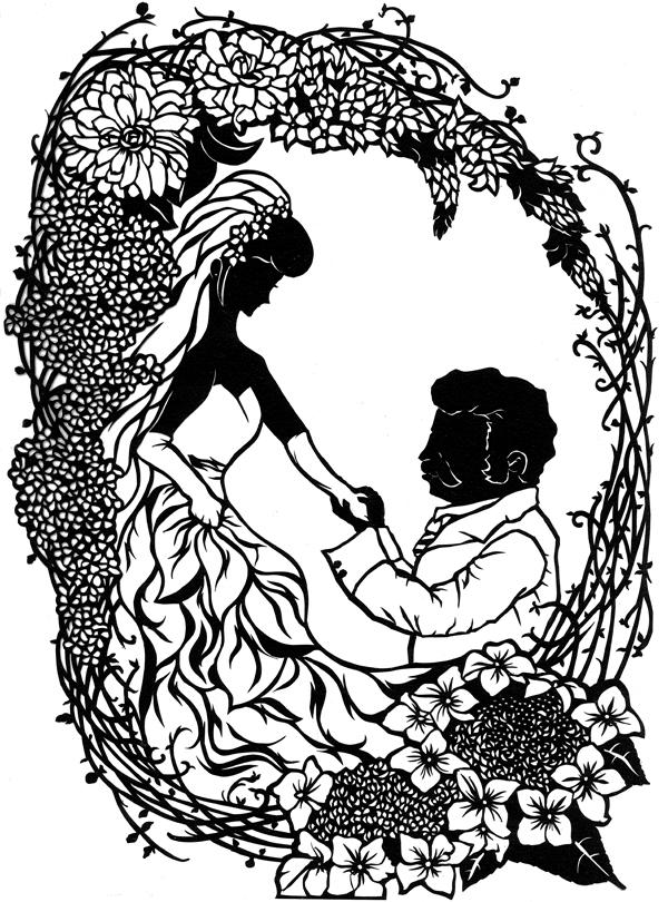 ラル様とハモン様の結婚式のウェルカムボードのイメージで。